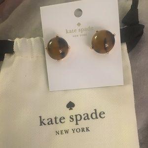 kate spade tortoise earrings brand new